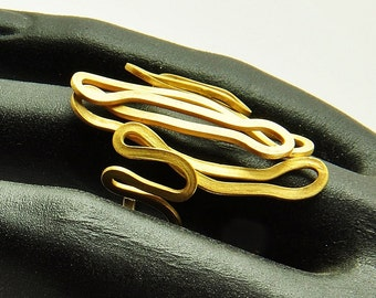 18K Solid Gold, Handcrafted Ring, No. 070- 6