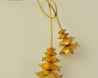 24K Solid Gold, Handcrafted Pendant, No. 032-3