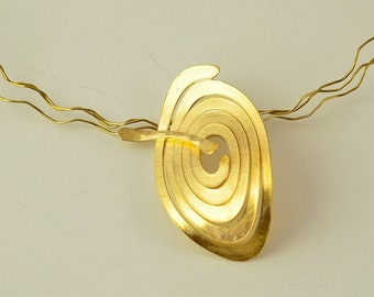 22K Solid Gold, Handcrafted Pendant, No. 076- 3