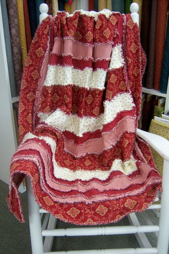 Strip-Ease Rag Quilt Pattern