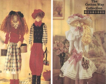 Clearance Decorative Doll Pattern - Cotton Way Dowel Dolls 22 inches   uncut  Simplicity 8588