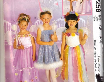 Princess and Dance Costume Pattern  Girls 4 - 6  uncut  McCalls P256