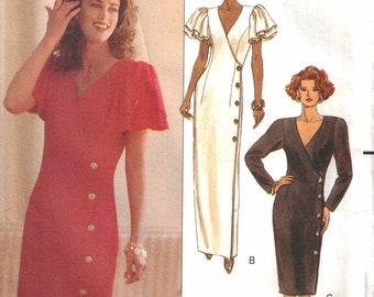 CLEARANCE Misses Dress Pattern Loose Fitting Mock Wrap size 6 - 10  uncut  Butterick 5105
