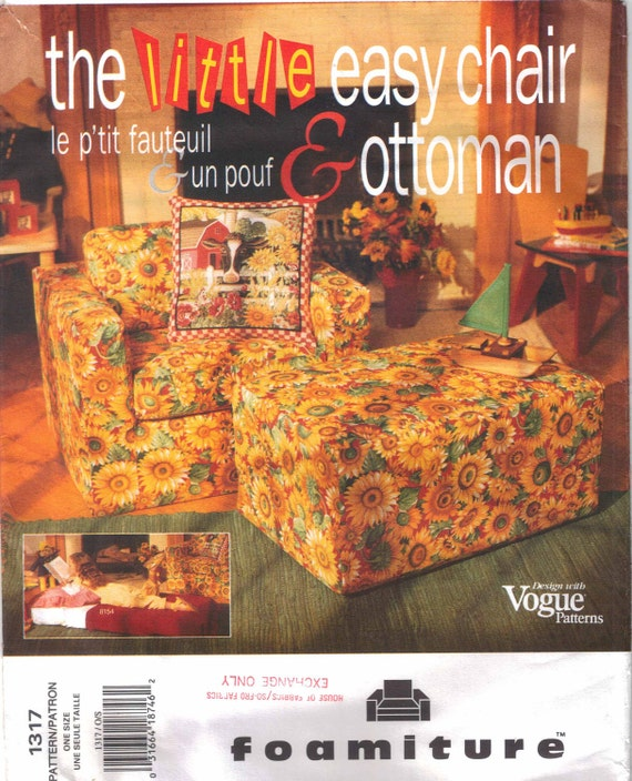 Foam Furniture Pattern Childrens' Easy Chair and Ottoman Uncut Vogue 1317  Foamiture