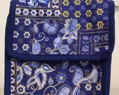 Lunch Bag - Quilted Blue Paisley