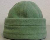 Fleece Beanie - Green - Small 0-6 months
