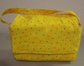 Insulated Lunch Bag - Yellow with Black Circles