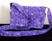 Shoulder Bag - Purple Flowered