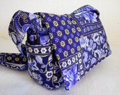 Quilted Shoulder Bag - Blue Paisley