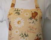 Full Apron - Daisies, Dragonflies and Pitchers