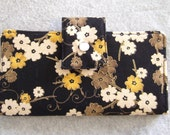 Fabric Wallet - Black Floral