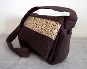 Brown Quilted Shoulder Bag