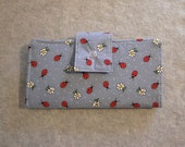 Fabric Wallet - Ladybugs and Daisies