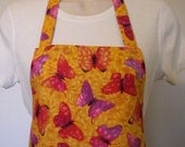 Full Apron - Red and Purple Butterflies