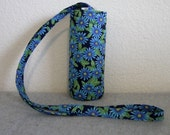Insulated Water Bottle Carrier - Blue Daisies
