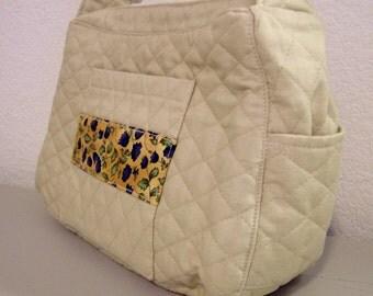 Shoulder Bag - Quilted Cream