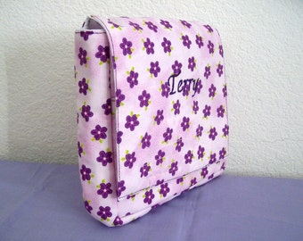 Insulated Sandwich Pouch - Purple Flowers