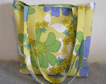 Canvas Tote Bag -- Floral Print