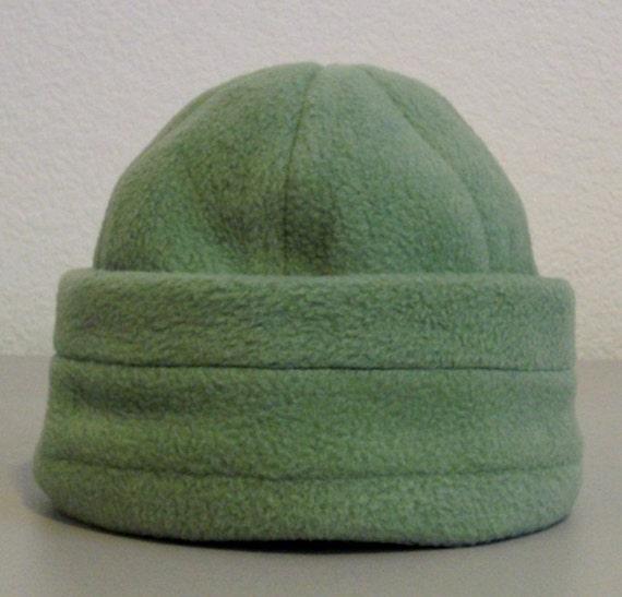 Fleece Beanie - Green - Small 0-6 months