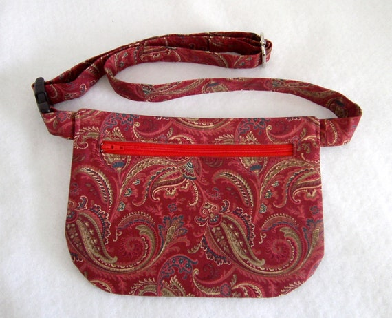 Hip Bag - Red Paisley