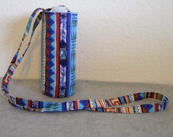 Insulated Water Bottle Carrier - Navajo Print