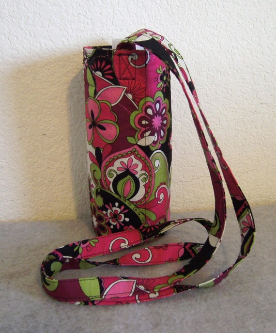 Insulated Water Bottle Carrier - Bright Floral