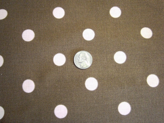Fat Quarter - Brown with Pink Polka Dots