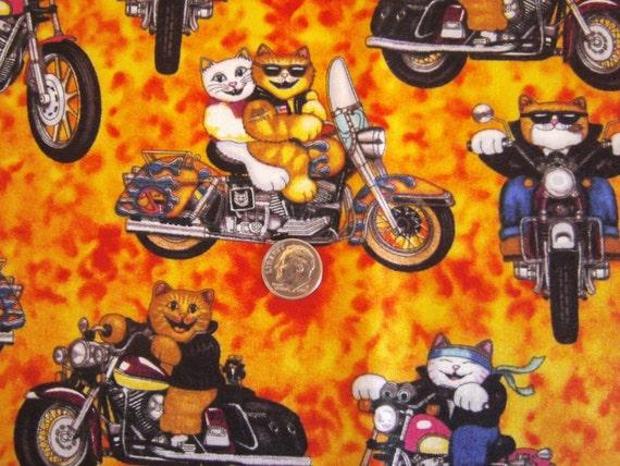 Fat Quarter - Biker Kitties