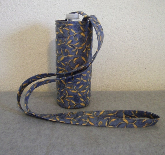 Insulated Water Bottle Carrier - Golden Leaves