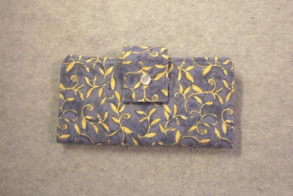 Fabric Wallet - Golden Leaves