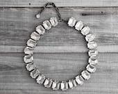 Vintage Chunky Rhinestone Necklace - FREE SHIPPING
