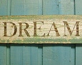 Dream Sign Turquoise Sea Glass Green Layered Paint Sign - CastawaysHall