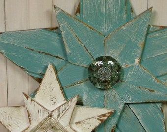 Wooden Star Beach House Wall Art Inside Outside - 32 to 34 Inches by CastawaysHall