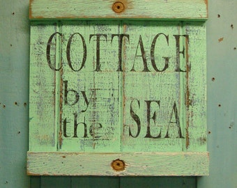 Beach House Sign Cottage by the Sea by CastawaysHall