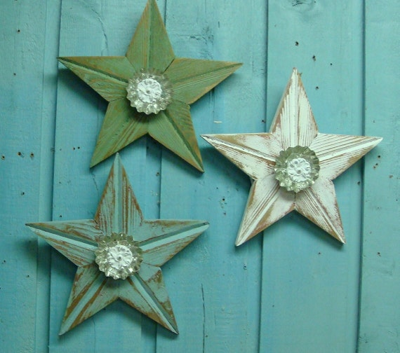 Shabby Chic Muted Turquoise Little Beach Star