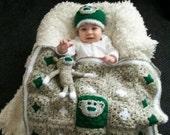 Sock Monkey Baby Set