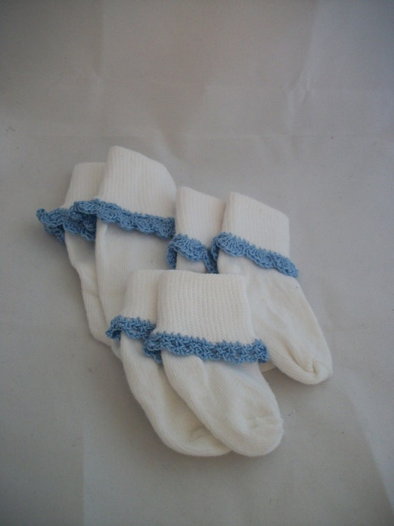 Trimmed Baby Socks