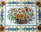 CLEARANCE: Counted Cross stitch Kit Sunflower Basket