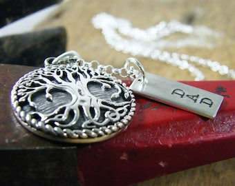 sturdy tree with dad tag sterling silver necklace fathers day