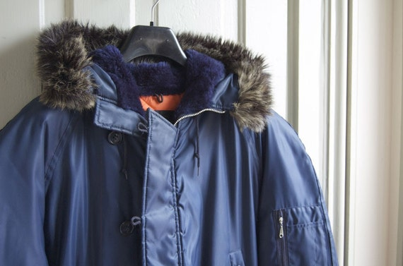 Genuine outlet for army navy surplus and items such as Alpha Industries N3B Flight Parka Navy Blue W/Faux-Fur Lined Hood. Made in USA and a full line of army navy .