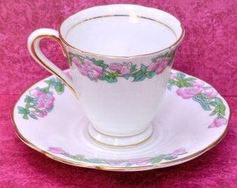 """English Bone China """"TUSCAN""""  Demi-Tass cup & saucer"""