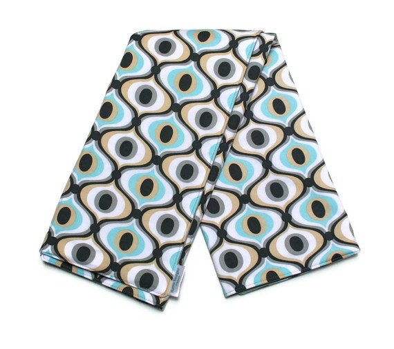 Baby Boy Changing Pad in Grey and Aqua Michael Miller Fabric