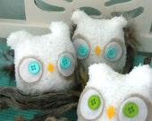 WOODLAND OWLS- Set of THREE
