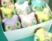 Baby Shower Favors- SET of 10 OWLS