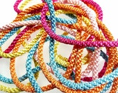Silk style rope 1960s french 5m color mix