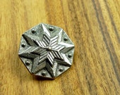 Pewter metal buttons, traditional motives from Norway Hardanger
