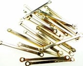 Metal bar connectors with loops gold tone 200pcs