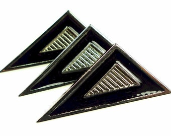Metal buttons, 3pcs triangle small