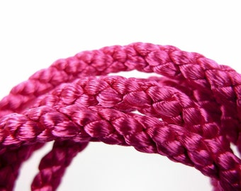 Silk style rope fuchsia 1960s french