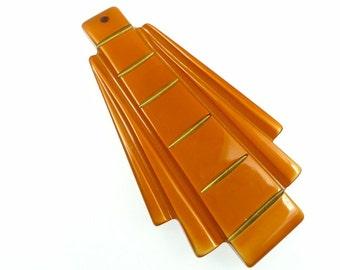 Art deco style pendant orange